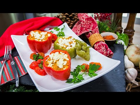 Kellan Lutz & Brittany Gonzales's Stuffed Christmas Peppers  Home & Family