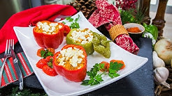 Kellan Lutz & Brittany Gonzales's Stuffed Christmas Peppers - Home & Family