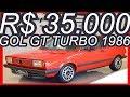 PASTORE R$ 35.000 Volkswagen #VW Gol GT Turbo 1986 Vermelho aro 14 MT5 FWD 1.8 Álcool