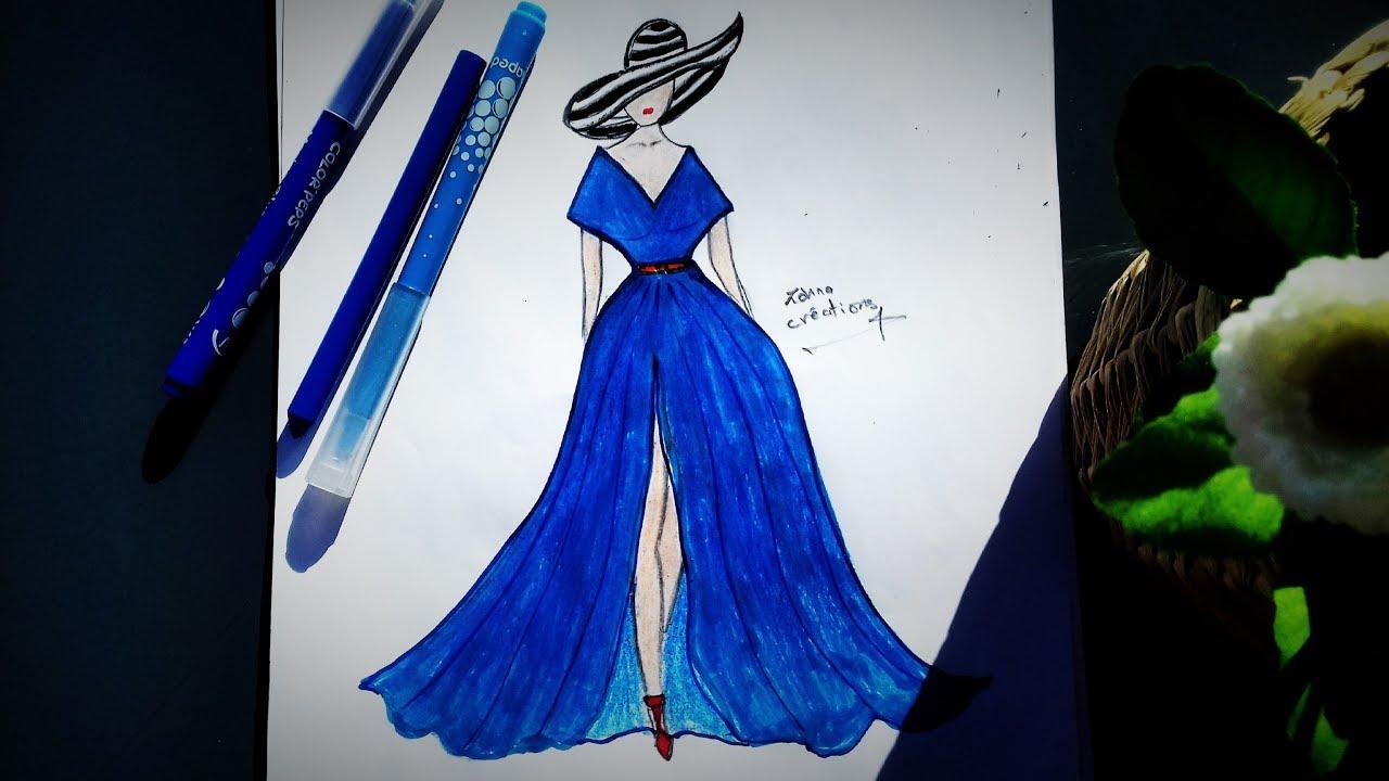 Fashion Design Dress Drawing