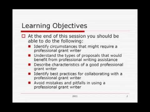 Hiring a Grant Writer: When, How and Why
