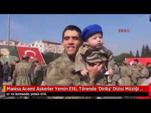 Manisa'da acemi askerler yemin etti, törende 'Diriliş' dizisi müziği çaldı