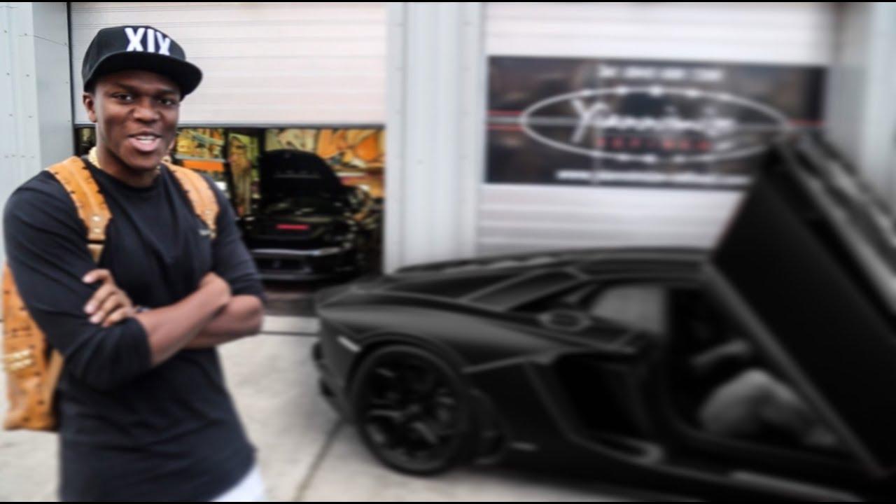Ksi Lamborghini Aventador Wrapped Satin Black With Tron Lines Youtube