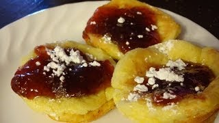 German Mini Pancakes Cooked On Low Buget In Cupcake Muffin Pans