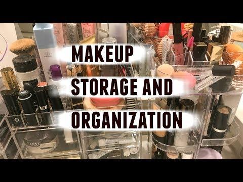 Organizing my Makeup  Vanity & Makeup Organization  Lisa J Makeup
