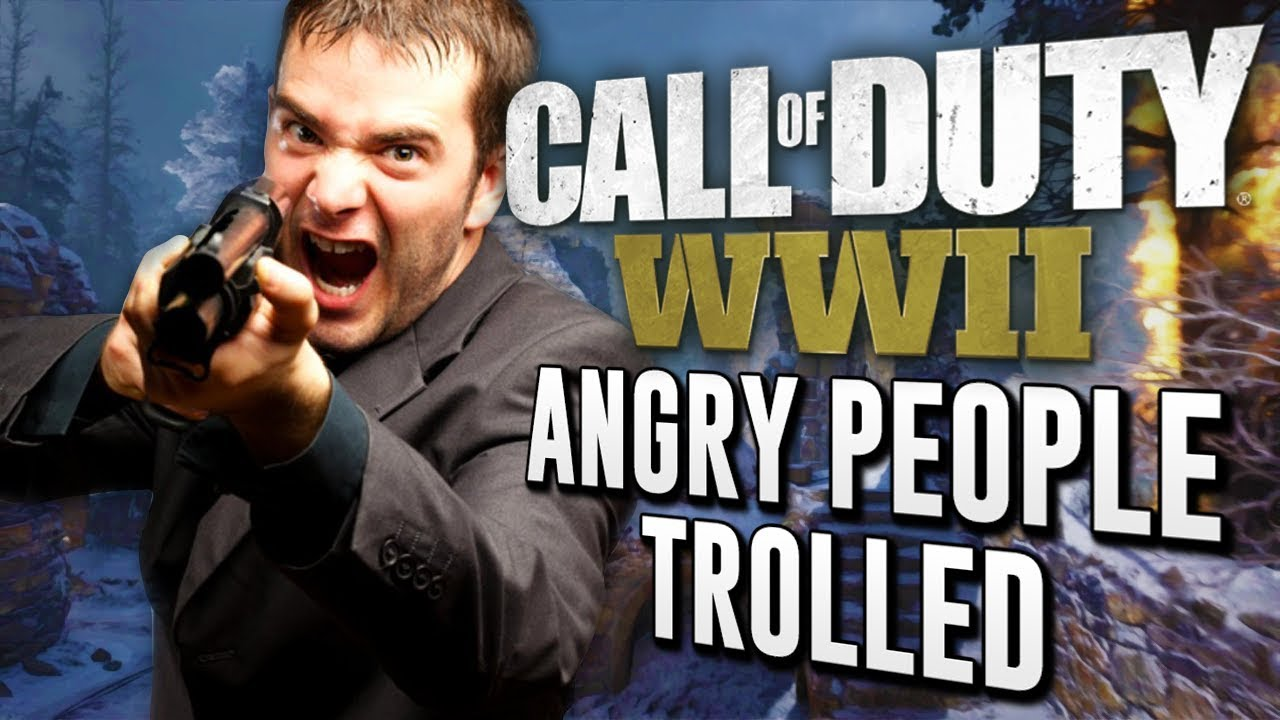 ANGRY PEOPLE OF WW2! (Call of Duty WWII Trolling Teammates)