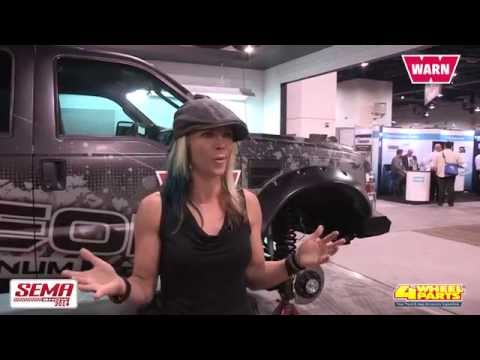 4 WHEEL PARTS INTERVIEWS JESSI COMBS, OF ALL GIRL GARAGE, AT 2014 SEMA SHOW