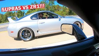 SUPRA OWNERS CALLED OUT MY ZR1 TO RACE... *This is Why Manual Cars SUCK!*