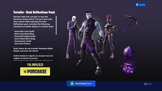 FORTNITE BUYING NEW DARK PACKAGE BUNDLE SET SHOWCASE - AVAILABLE NOW PLUS JEU PLAY