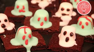 How To Make Ghost Brownies - Halloween Recipe -Шоколадные брауни C привидениями