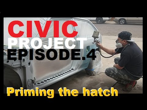 EF Civic project ep.4  +How to paint your rims