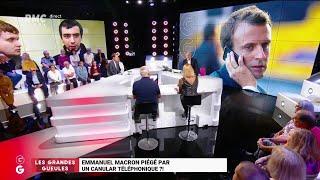 """Les """"Grandes Gueules"""" de RMC: Emmanuel Macron piégé par un canular téléphonique?!"""