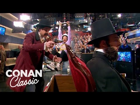 "Conan Zip Lines To Save Lincoln - ""Late Night With Conan O'Brien"""