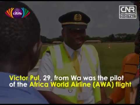 Africa World Airlines makes first commercial touchdown at new Wa Airport