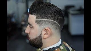 Drop Fade Tutorial | Side Part | Beard Line up!