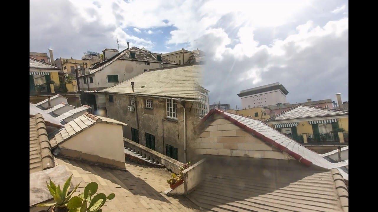 Genova Centro Storico mansarda con terrazzo al piano - YouTube