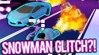 NEW SNOWMAN GLITCH VS LAMBORGHINI!!! (Roblox Jailbreak)