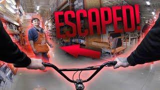 *ESCAPED* RIDING A BMX INSIDE HOME DEPOT!