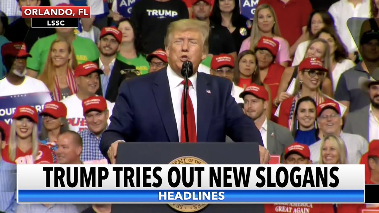 Trump Workshops New 2020 Campaign Slogans