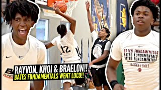 Rayvon Griffith, Braelon Green and Khoi Thurmon Go OFF For Bates Fundamentals Squad! Dunk Everything
