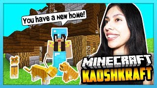 BUILDING MY CAT A NEW HOME! - Minecraft Survival Lets Play: KaoshKraft SMP 3 - EP 96