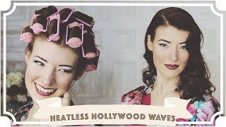 Heatless Old Hollywood Waves // How To Curl Your Hair