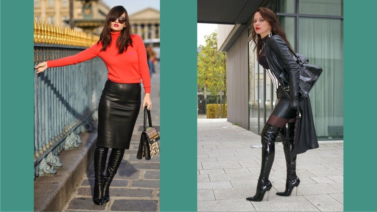 stili di grande varietà Garanzia di qualità al 100% vendita uk Women In Leather Skirts And Boots - YouTube