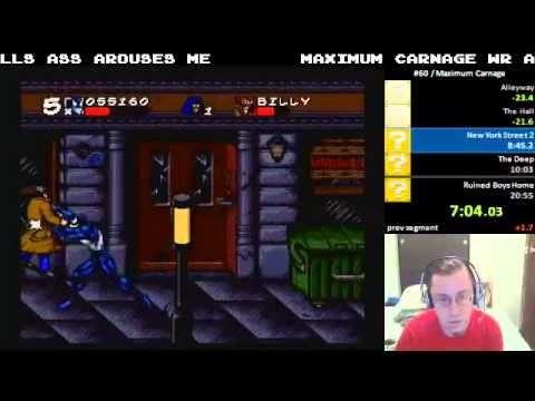 Maximum Carnage (SNES) - Speedrun in 20:37 by funkdoc (NEW WR)