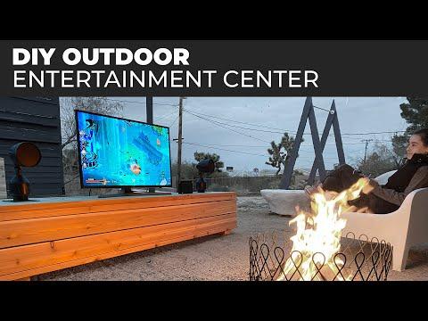 DIY Outdoor Entertainment Center | Off the grid setup