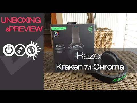 Razer Kraken 7.1 Chroma Unboxing & Preview