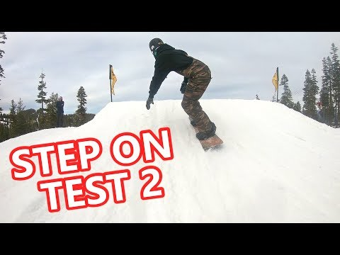 Testing the Burton Step Ons at Northstar Terrain Park