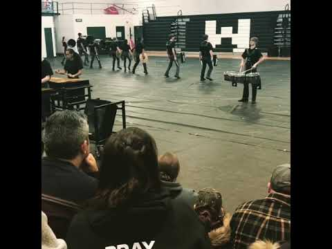 Westland High School indoor percussion 2018 chakras quads