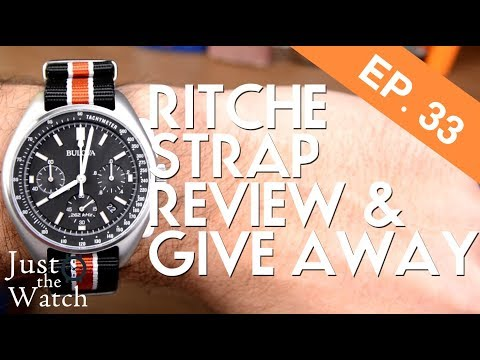 Ritche Strap Review And Give Away! Bulova Moon Watch And Timex Weekender Strap Options
