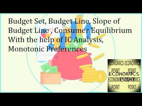 V 9, Budget Set | Budget Line | Slope of Budget Line | Consumer's Equilibrium with IC Analysis