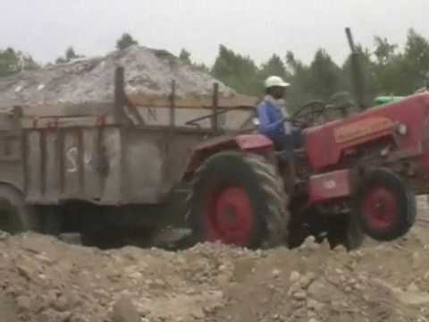 Mining in Haridwar district  on the Ganges River May 2017 second video