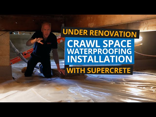 Crawl Space Waterproofing - During Home Renovation