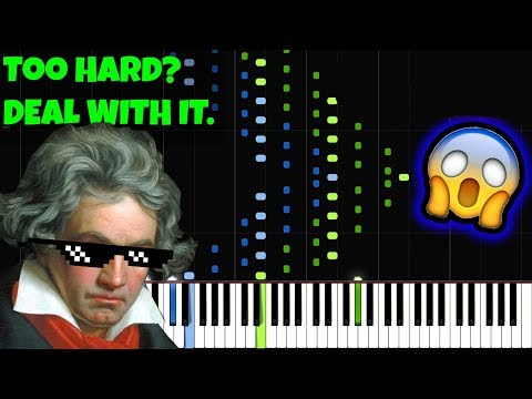 Beethoven - Moonlight Sonata (3rd Movement) [INSANE Piano Tutorial] (Synthesia)