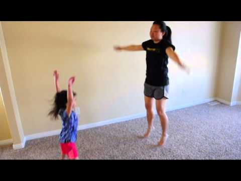 Exercising with Kids - Jumping Jacks