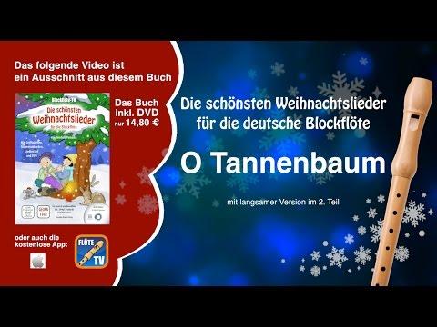 ♬-o-tannenbaum-☆-deutsche-blockflöte-☆-weihnachtslieder-☆