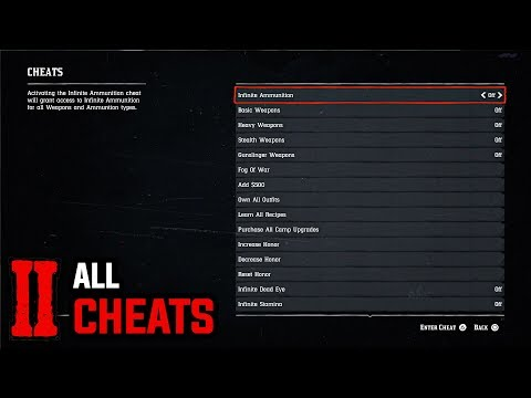 All 37 Cheats (How To Enter All Cheat Codes) - Red Dead Redemption 2