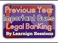 JAIIB Legal and regulatory aspects of banking previous year questions Mock Test