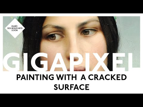 Why do some paintings have a cracked surface ? In high definition