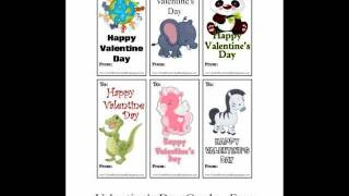 Set 4 Of The Printable Valentines Day Cards For Preschool Kindergarten Childcare Home School