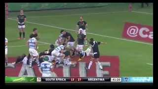 Rugby. South Africa allows controversial try to Argentina 11 years later Ireland