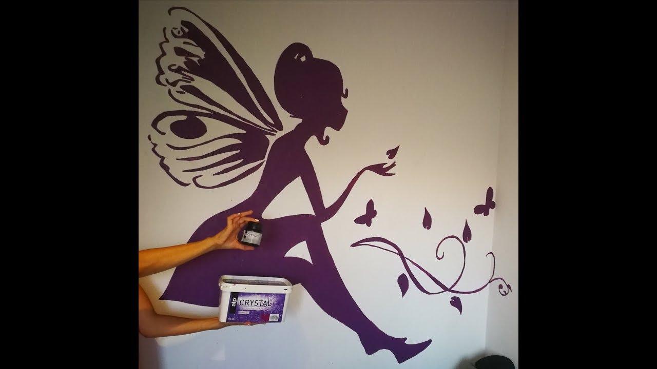 Diy como hacer un dibujo perfecto y grande en tu pared youtube Dibujos para paredes