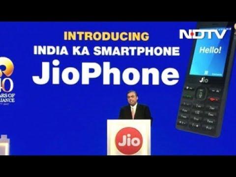 Mukesh Ambani Launches Jio 4G VoLTE Feature Phone at Reliance AGM