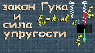 СИЛА УПРУГОСТИ закон Гука физика 7 класс