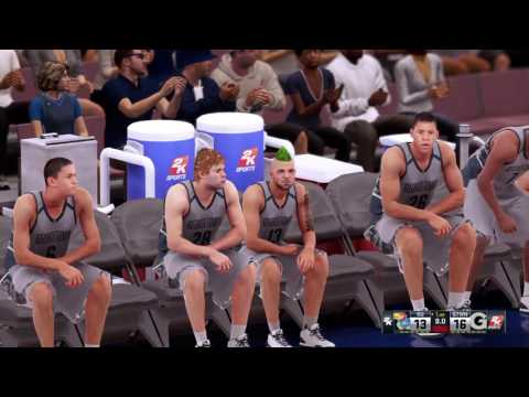 NBA 2K16 - Tercer partido universitario, Georgetown vs Kansas.
