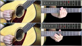 Justin Timberlake - What goes around SLOW 1/2 guitar lesson (Уроки игры на гитаре Guitarist.kz)