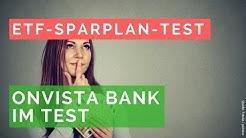 OnVista Bank: ETF-Sparpläne und Angebot für Selbstentscheider